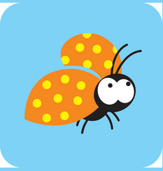 mossy beetle flying on business vector image