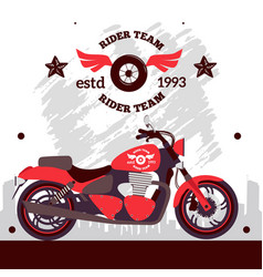 motorcycle rider team poster vector image