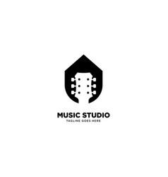Music studio logo template icon element vector