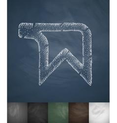 New bookmark icon Hand drawn vector