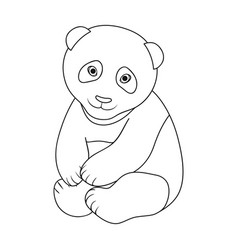 pandaanimals single icon in outline style vector image
