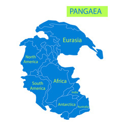 Pangaea or pangea of vector