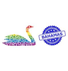 Rubber bahamas seal and rainbow geometric goose vector
