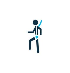 Safety harness icon colored symbol premium vector