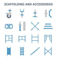 Scaffolding pipe icon vector