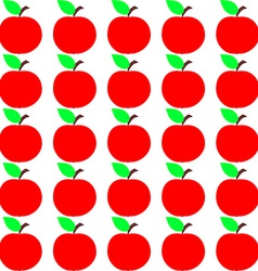 Seamless Apple Texture Autumn Fruit Background vector image
