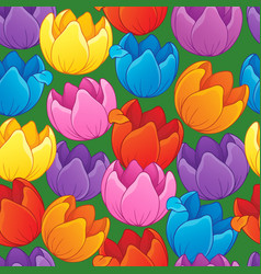 Seamless background flowery topic 3 vector