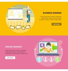 Set of Business Education Web Banners vector image