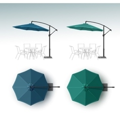 Set of Outdoor Beach Cafe Restaurant Umbrella vector