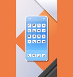 smartphone mobile application icons creative ui vector image