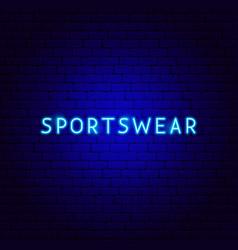 sportswear neon text vector image
