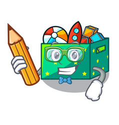 student cartoon toy boxes in a bedroom vector image