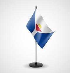 Table flag of saint martin vector