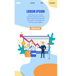 Trainer explain to girl financial growth strategy vector