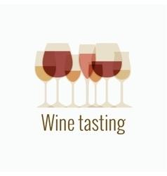 Wine tasting vector