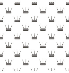Wireless router pattern vector