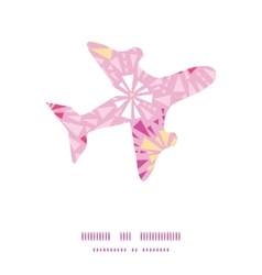 pink abstract triangles airplane silhouette vector image vector image