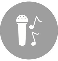 Singing on Mic vector image