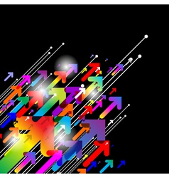 Abstract colored gradient background vector image vector image