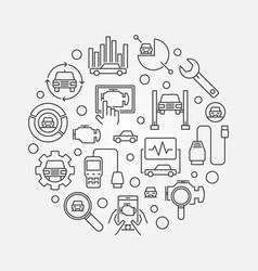 Automotive diagnostics vector