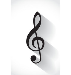 G clef vector image vector image
