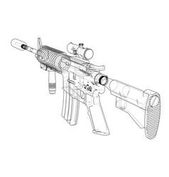 machine gun rendering of 3d vector image