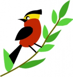 patterned bird vector image vector image