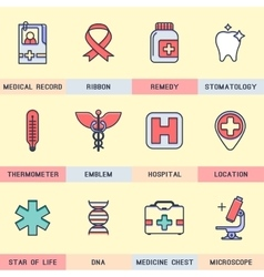 Set of icons in the flat style vector image vector image