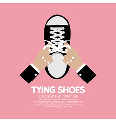 Tying Shoes vector image vector image