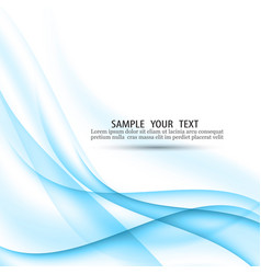 abstract blue background with smooth lines vector image vector image