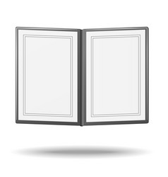 blank classic restaurant menu with copy space vector image vector image