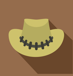 cowboy hat icon flat style vector image