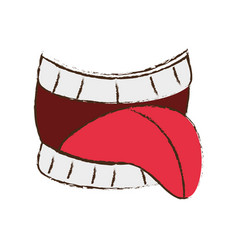 first april fools mouth tongue image vector image