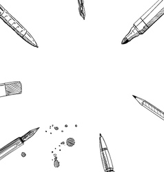 Frame pens backgrounds vector image vector image