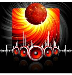 musical theme with speakers vector image vector image