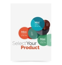 Option select infographic banner vector