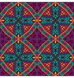 seamless pattern colorful Geometric ornament vector image vector image