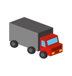 truck vehicle isolated icon vector image vector image