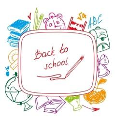 Back to school school background of school vector image