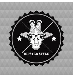 Giraffe animal hipster style vector