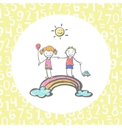Hand-drawn sketch on the theme of childhood vector image
