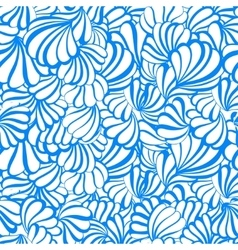sea shell seamless pattern on a white vector image vector image