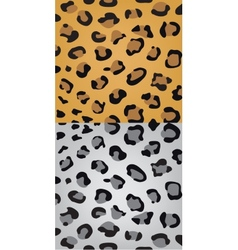 Set leopard skin texture vector
