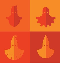 Set of executioner masks vector image vector image