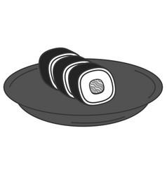 sushi japanese food icon vector image