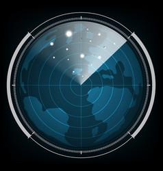 technology digital future abstract radar screen vector image