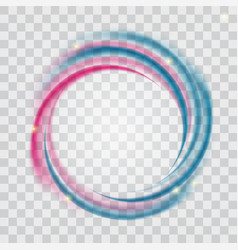 abstract blue and pink wave on transparent vector image