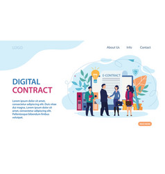 Advertising banner digital contract lettering vector