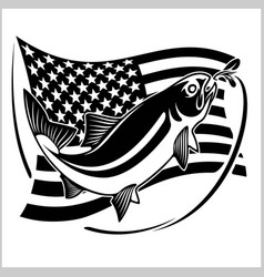 American usa flag tarpon vector