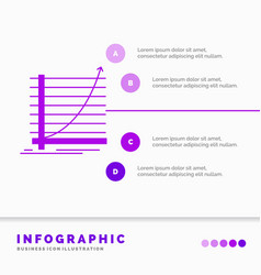 arrow chart curve experience goal infographics vector image